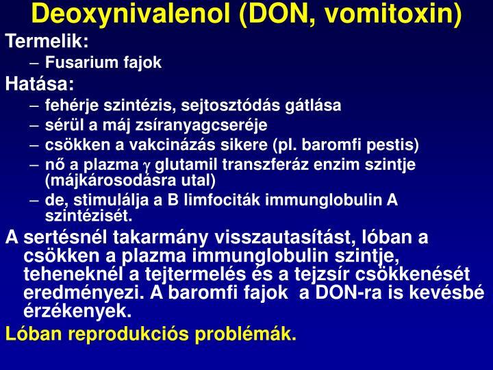 Deoxynivalenol (DON, vomitoxin)