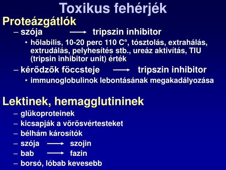 Toxikus fehérjék