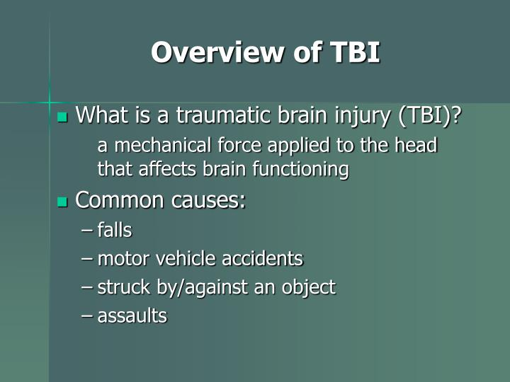 Overview of TBI