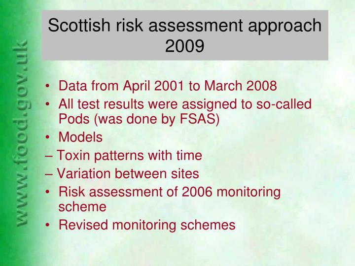 Scottish risk assessment approach 2009