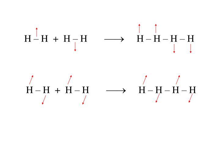 H – H  +  H