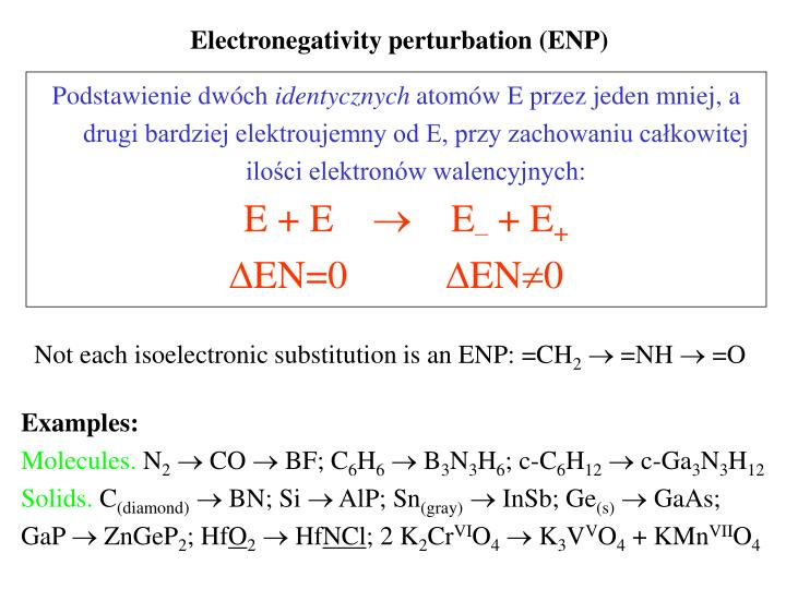 Electronegativity perturbation (ENP)