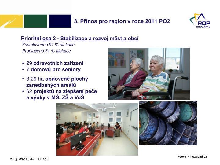3. Přínos pro region v roce 2011 PO2