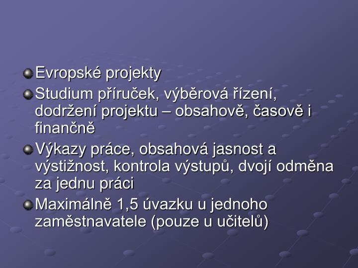 Evropsk projekty
