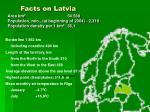facts on latvia
