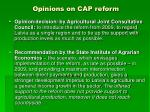 opinions on cap reform
