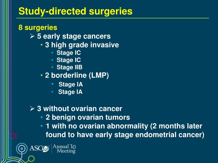 Study-directed surgeries