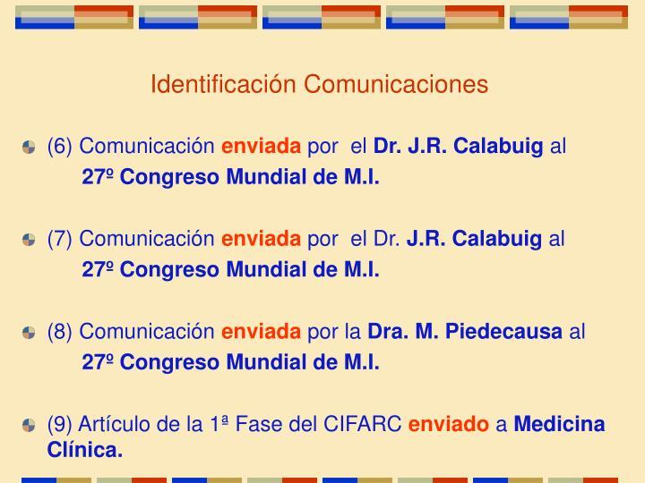 Identificación Comunicaciones