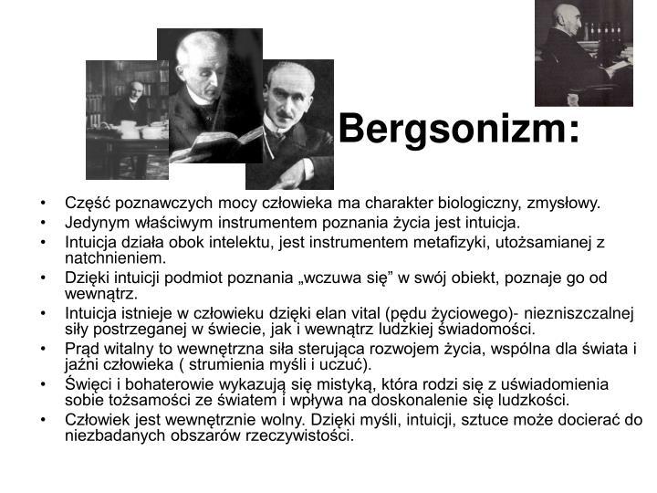 Bergsonizm: