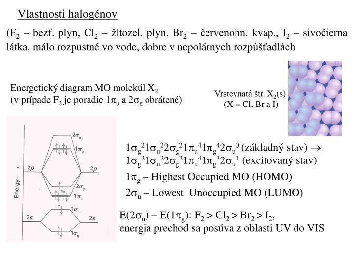 Vlastnosti halogénov
