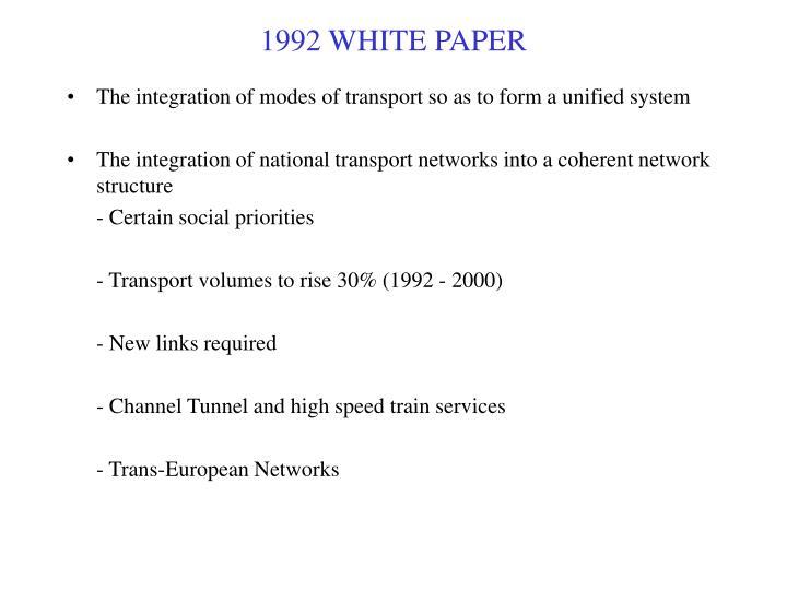 1992 WHITE PAPER