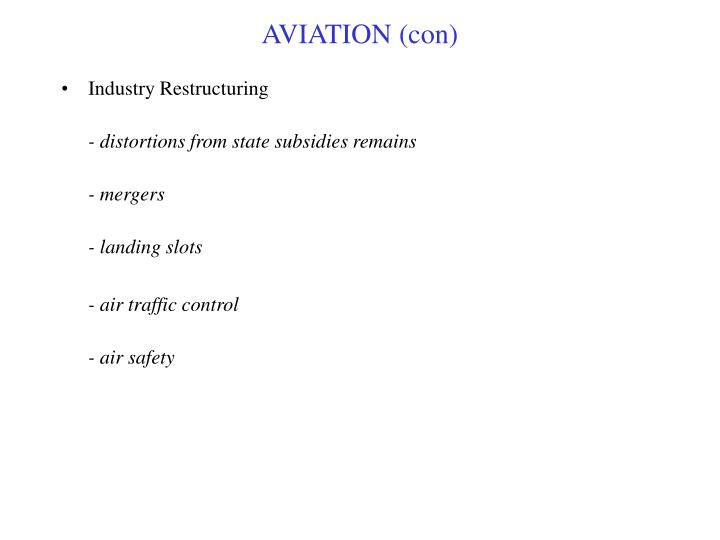 AVIATION (con)