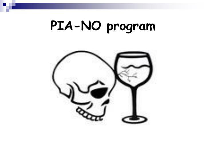 PIA-NO program