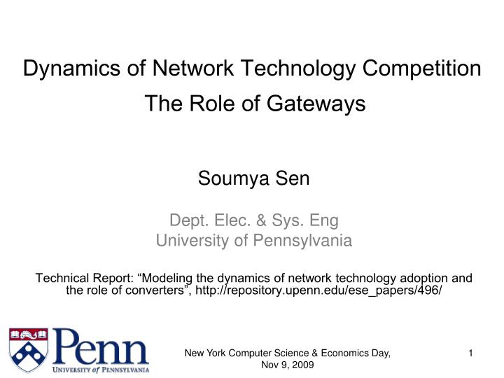 Dynamics of Network Technology Competition