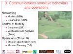 3 communications sensitive behaviors and operations