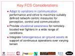 key fcs considerations
