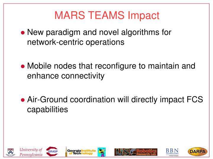 MARS TEAMS Impact