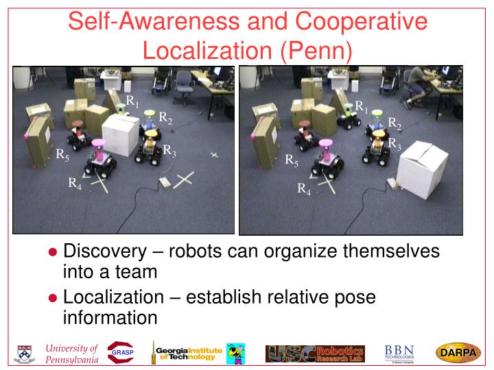 Self-Awareness and Cooperative Localization (Penn)