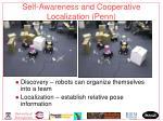 self awareness and cooperative localization penn