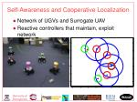 self awareness and cooperative localization