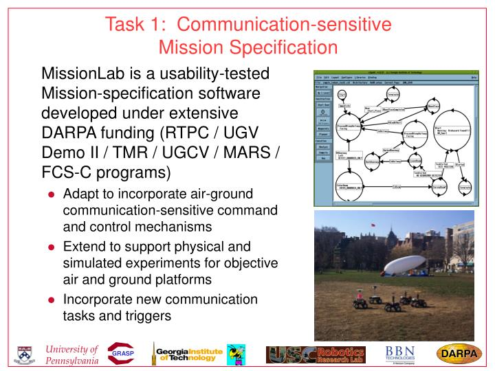 Task 1:  Communication-sensitive