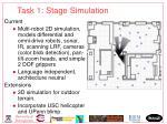 task 1 stage simulation