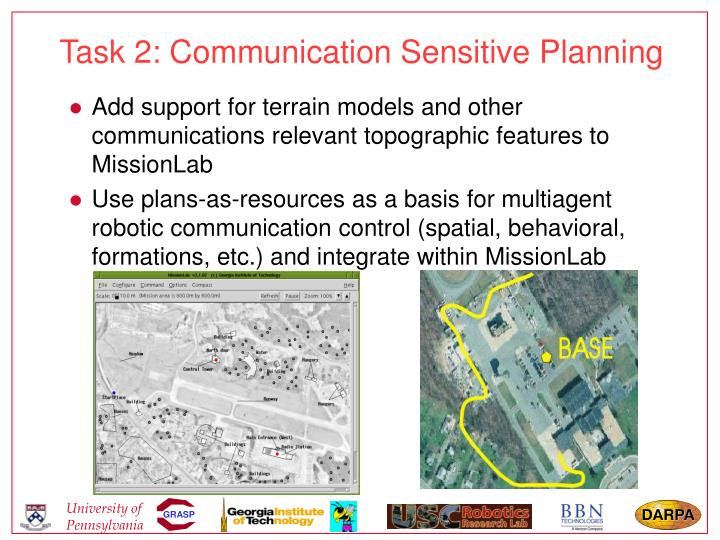 Task 2: Communication Sensitive Planning