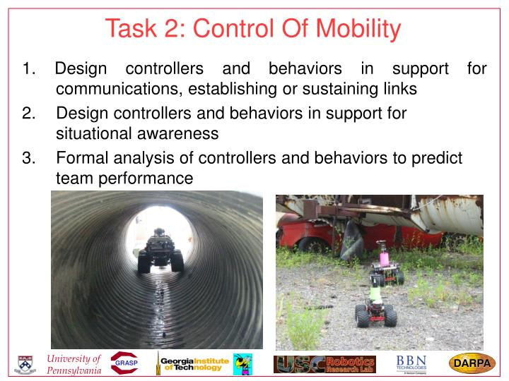 Task 2: Control Of Mobility