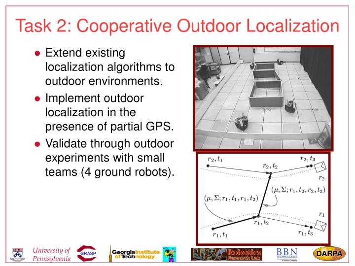 Task 2: Cooperative Outdoor Localization