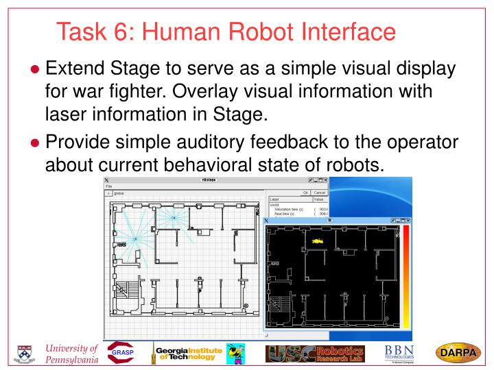 Task 6: Human Robot Interface