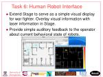 task 6 human robot interface