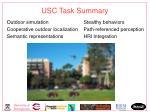 usc task summary