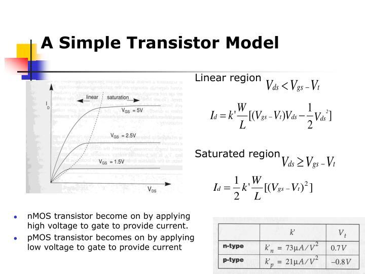 A Simple Transistor Model