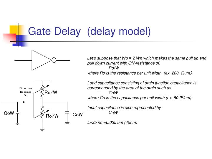 Gate Delay  (delay model)