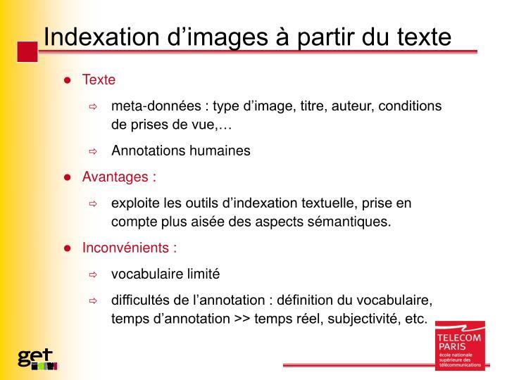 Indexation d'images à partir du texte