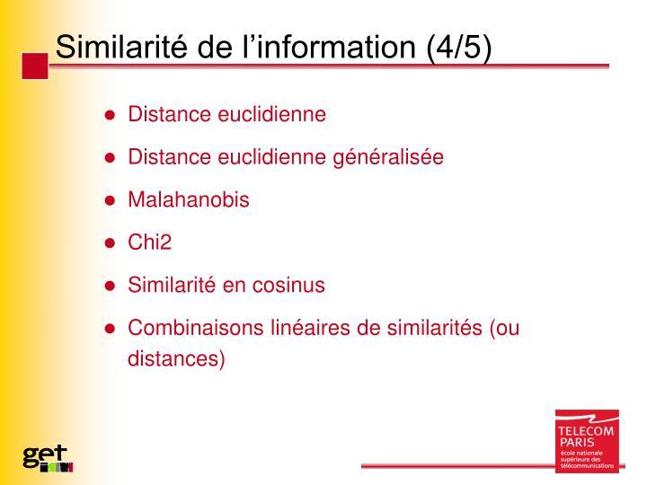 Similarité de l'information (4/5)