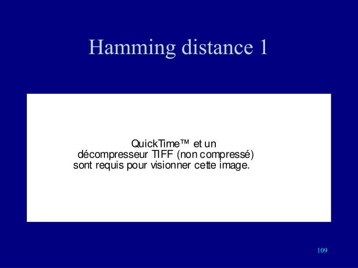 Hamming distance 1
