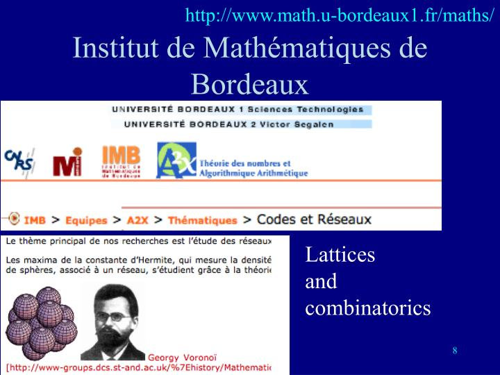http://www.math.u-bordeaux1.fr/maths/