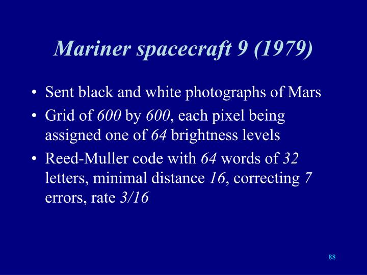 Mariner spacecraft 9 (1979)