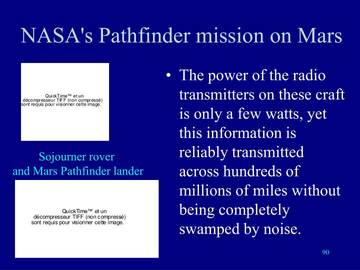 NASA's Pathfinder mission on Mars