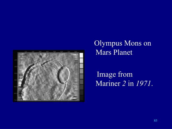 Olympus Mons on Mars Planet