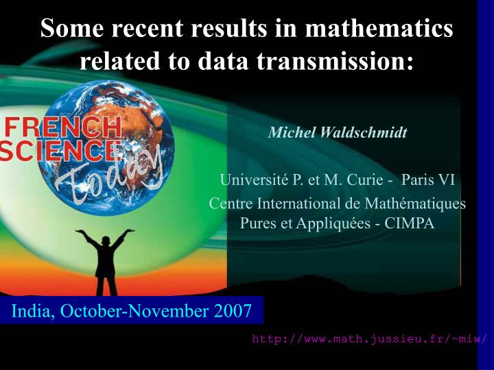Some recent results in mathematics related to data transmission