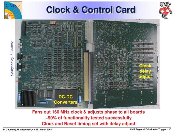 Clock & Control Card