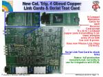 new cal trig 4 gbaud copper link cards serial test card
