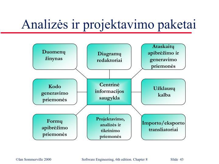 Ataskaitų apibrėžimo ir generavimo priemonės