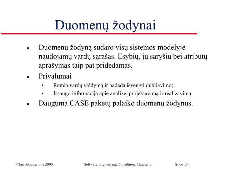 Duomenų žodynai