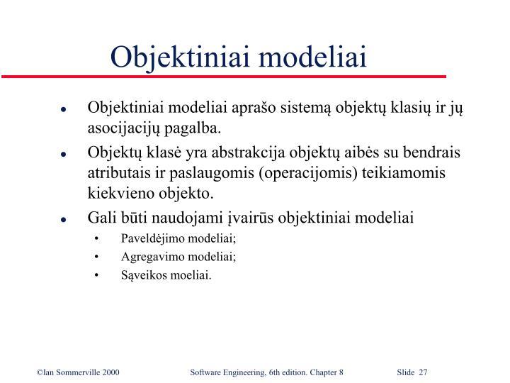 Objektiniai modeliai