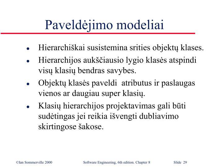 Paveldėjimo modeliai