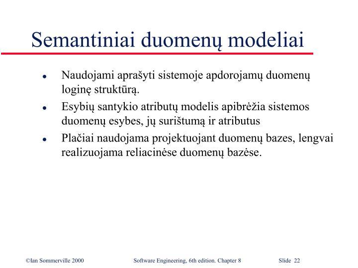 Semantiniai duomenų modeliai