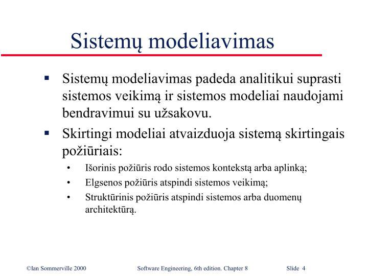 Sistemų modeliavimas